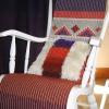 Keinutuolin matto ja ryijytyyny, villaa